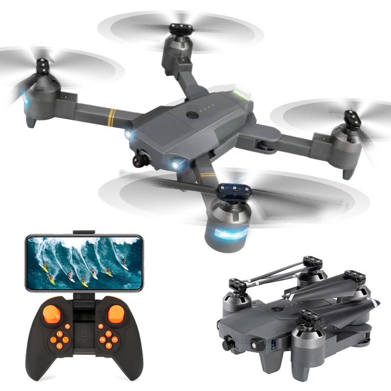XT-1 Foldable FPV Selfie Drone 480P 720P 1080P WIFI HD Camera Wide Angle Folding RC Quadcopter Toy Altitude Hold VS X12 E58 Dron global drone with camera hd foldable rc quadcopter altitude hold helicopter wifi fpv dron vs e58