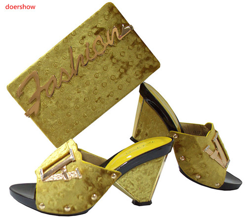 doershow Fashion Design African Shoes and Bag Matching Set High Quality Italy Shoes and Bag Match To Party Free Shipping SGF1-18 cd158 1 free shipping hot sale fashion design shoes and matching bag with glitter item in black