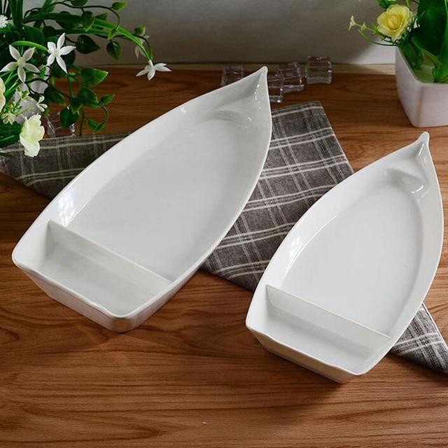 20pcs/lot A5 Melamine Dinnerware Dinner Plate 26*12.3*3.1cm Boat ...