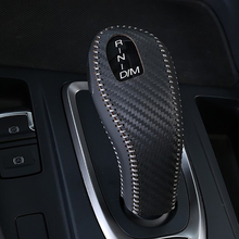 цена Free Shipping High Quality Cowhide Top Layer Leather automatic Gear Shift Collars Gear Cover For Great Wall Haval F7 Hover F7 онлайн в 2017 году