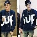 Горячая распродажа новая фракция Gd / EXO мужские кофты нью-kpop мужская EXO сбс-модифицированные пуловеры хлопка толстовки