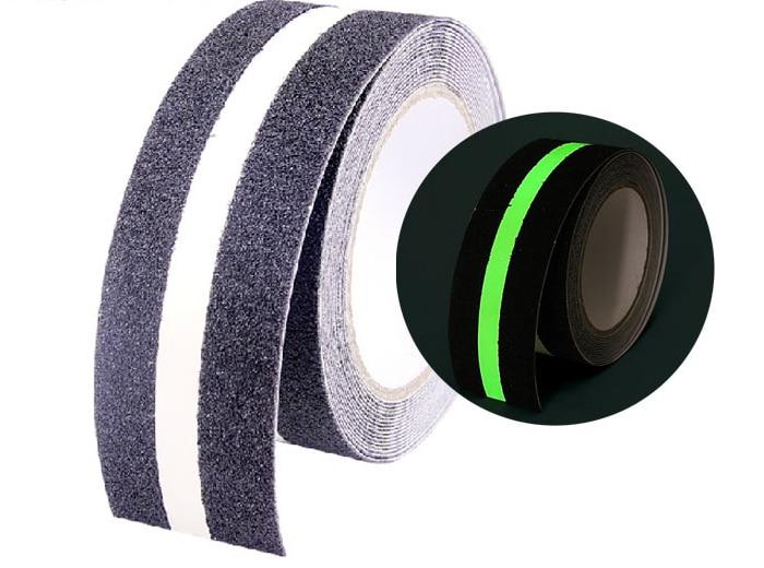 5Mx5CM Indoor Stairs Adhesive Tape Anti Slip Luminous Glow Tape Night Emitting Warning Tape