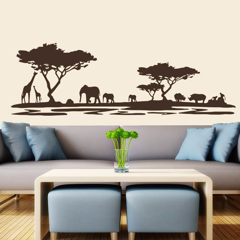 Online buy wholesale safari wall paper from china safari for Buy home decor online cheap