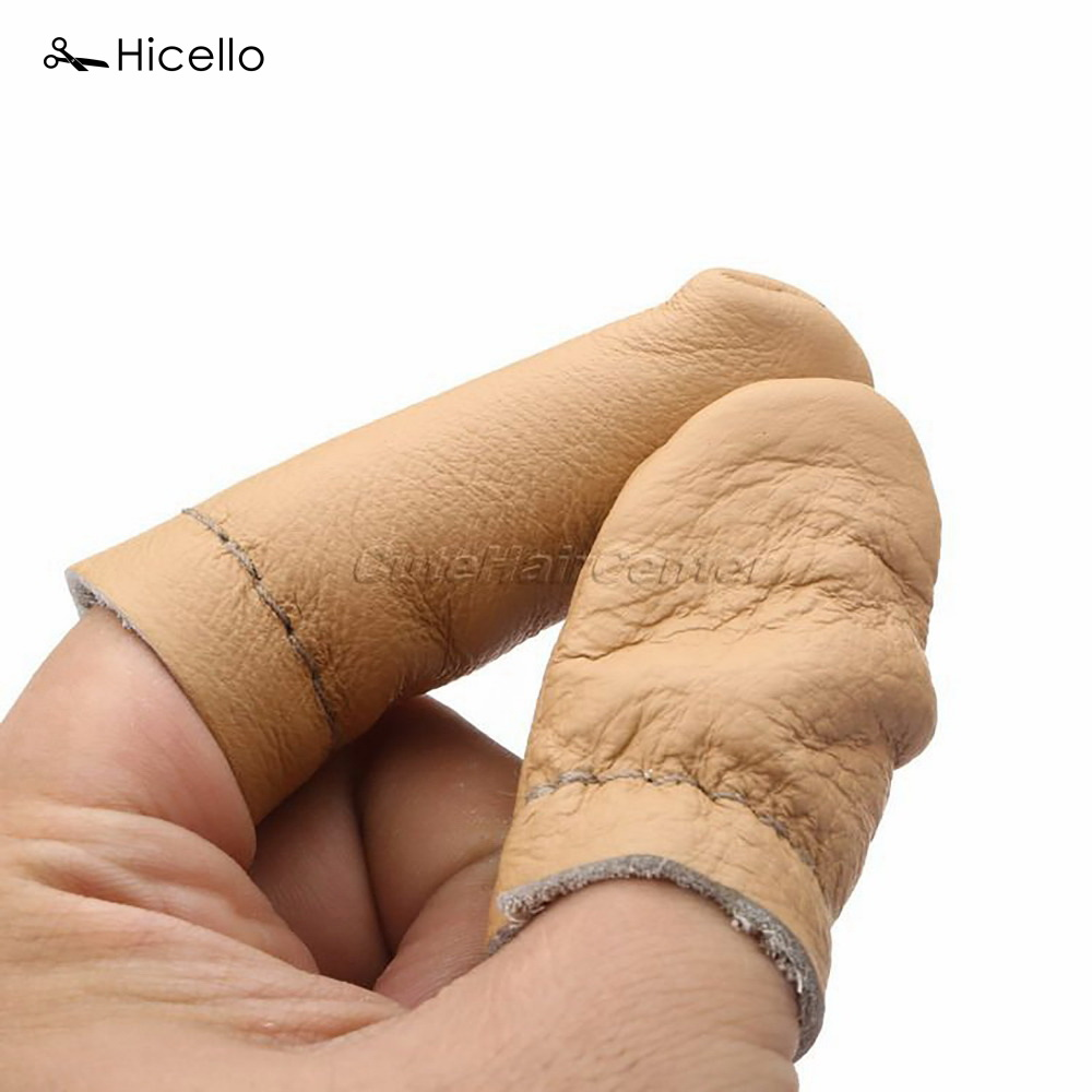 5 Pairs Thumb Index Thimble Finger Protector Leather Needle Felting Guard Hand Craft Embroidery Needlework Accessory Hicello