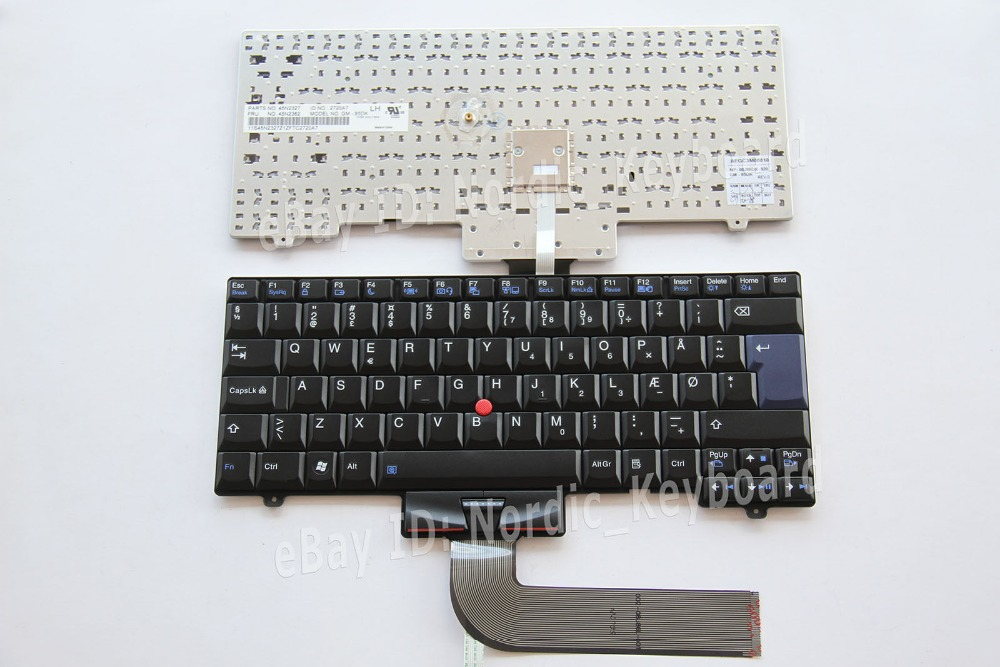 New notebook Laptop keyboard for Lenovo ThinkPad L412 L420 L512 L520 SL410 SL510 DK/Danish  layout laptop keyboard for acer silver without frame danish dk v 121646ck2 dm aezqsm00110
