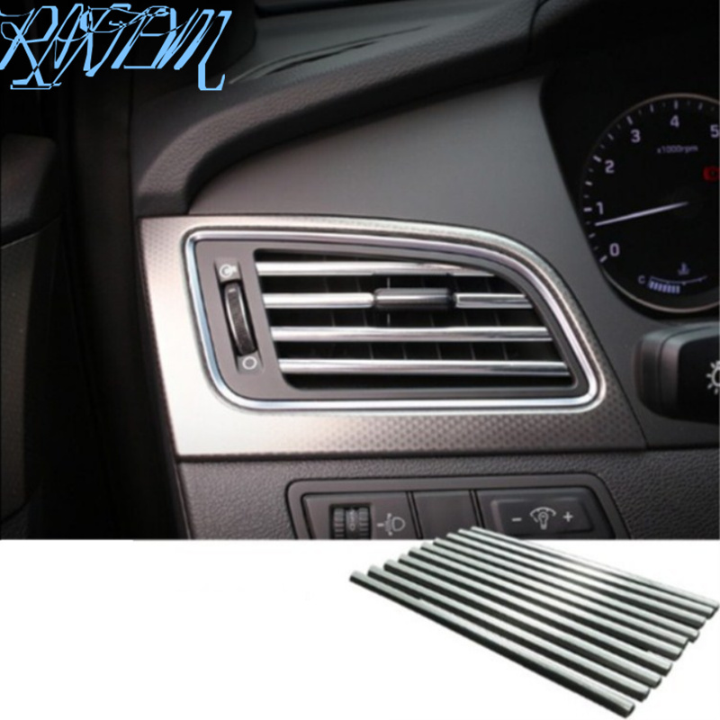 Car-styling New U Shaped DIY Air Vent <font><b>Grille</b></font> Decoration for <font><b>Mercedes</b></font> Benz A180 A200 A260 W203 <font><b>W210</b></font> W211 AMG W204 C E S CLS CLK image