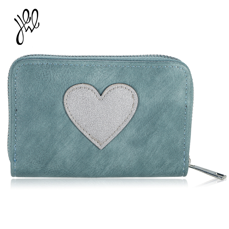 Lovely New Lady Purse Heart Pattern Women Leather Wallets Red Small Wallet Girls Short Wallet Card Holder Mini Coin Purse 500608