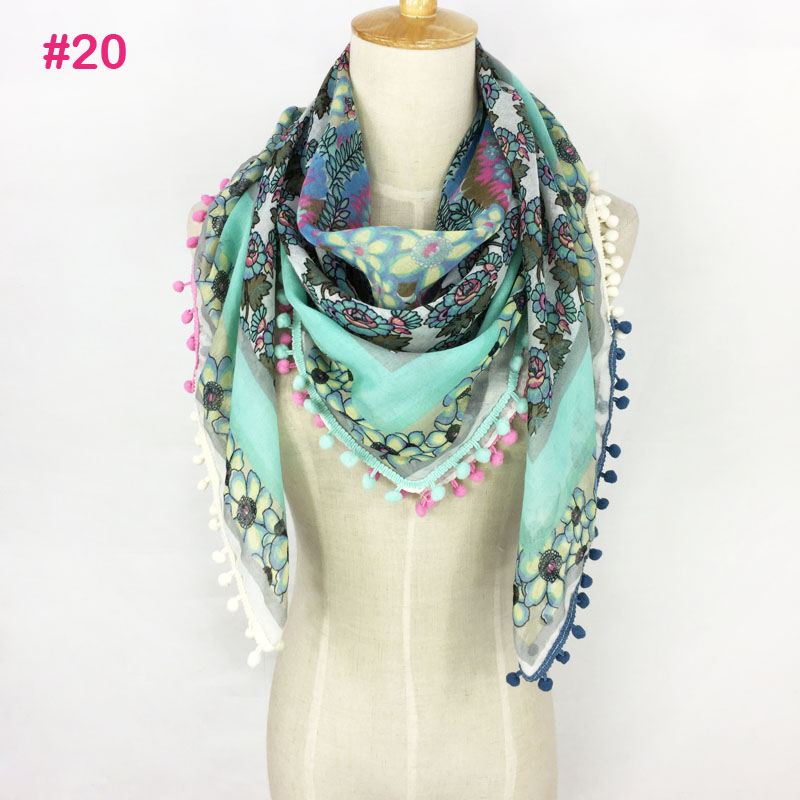 43 Colors Really Nice Good Quality SQUARE Tassel Neon Color Spring Summer Lady Scarf Hijab