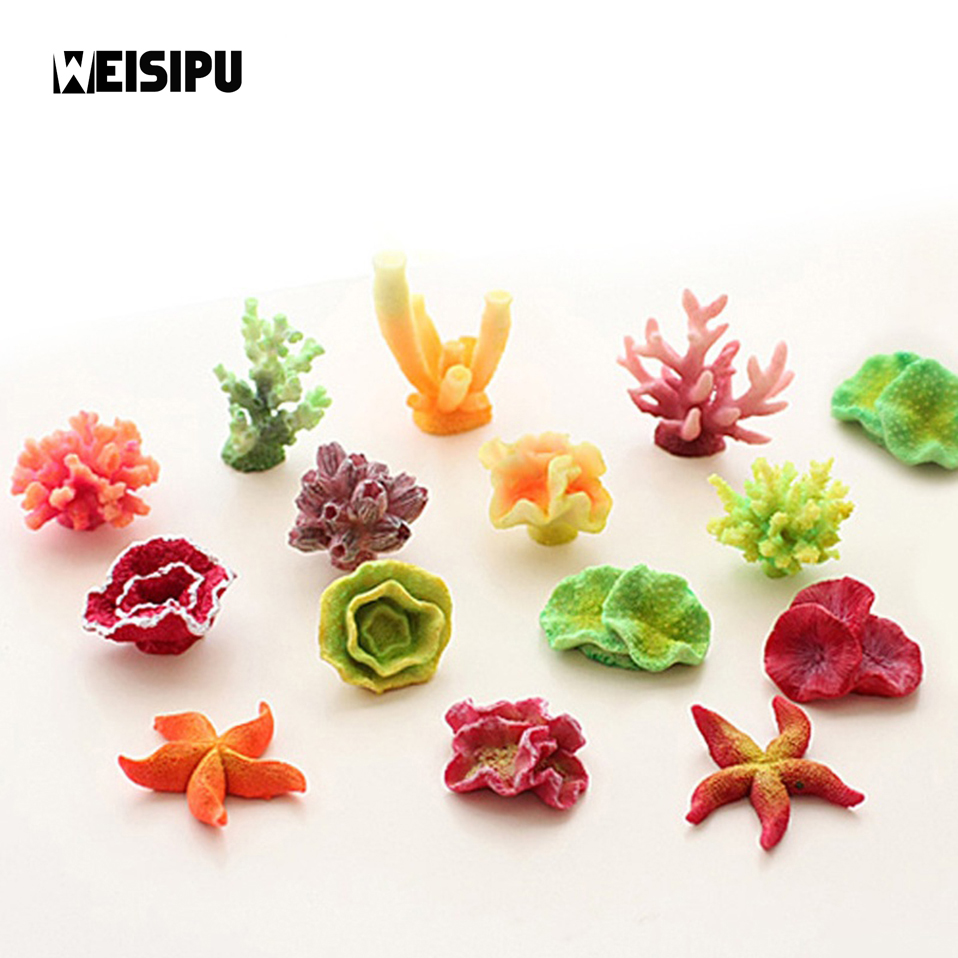 WEISIPU 1Pcs Fish Tank Decoration Resin Ornament ...