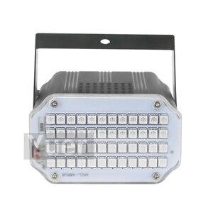 Image 3 - Luz Led estroboscópica giratoria de alta calidad, 48LED SMD 2019, luces de escenario Led activada por voz, fiesta, Disco, Bombilla de estroboscopio, 5050