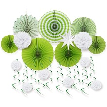 Summer Hawaiian Party Decorations 12pcs/set For Green Theme Tropical Wedding Birthday Garden Home