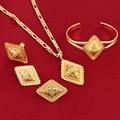 Ethiopian Traditional Festivals Jewelry Set Ethiopians Cross 24k Gold Plated Eritrea Ethiopian Orthodox Tewahedo Church