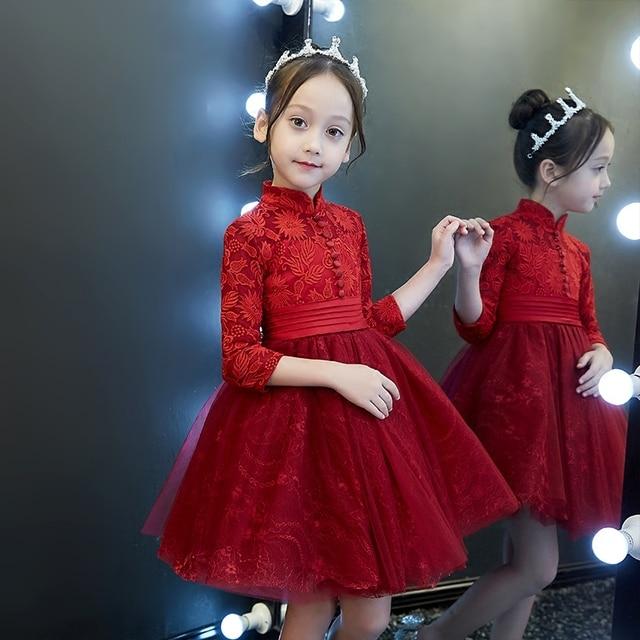 5f011b0541 Primavera 2018 nuevos niños niña cumpleaños Vestidos de fiesta dama  elegante vestido de fiesta formal vestido