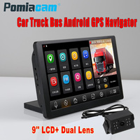 9 inch Android Bluetooth Phone Car Truck Bus GPS Navigation 1080P dual camera 35M extension cable Truck Vehicle gps Navigator T9