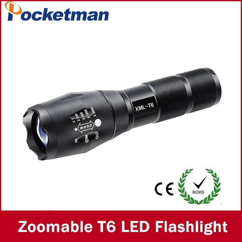 LED Taschenlampe 3800 Lumnes XM-L T6 LED Taktische Taschenlampe Zoombare Taschenlampe Lanternas Gladiator Taschenlampe