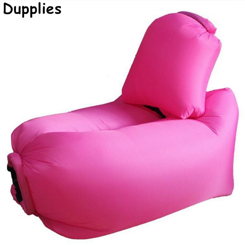 Dupplies Inflatable Sofa Hammock Portable Foldable Waterproof Outdoor Short Air  Bag Lounger Pillow Sleeping Bag(