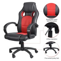 High Back Executive Office Chair Racing Car Style Gaming Chair Ergonomic Racing Car Seat Armchair Reclining Office Chair