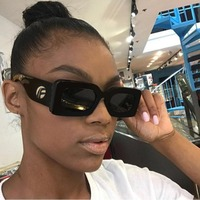 WOWSUN Small Square Sunglasses Women 2018 New Fashion Luxury Black Sunglasses Women Brand Rectangle Unisex Eyewear