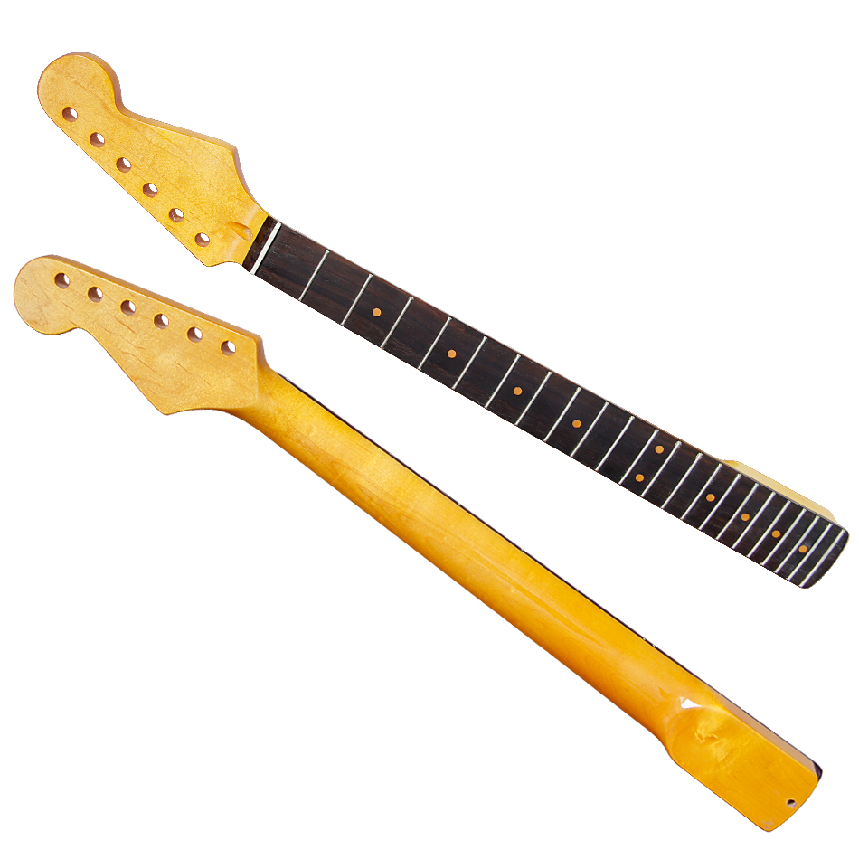Electric Guitar Neck 22 FRET electric guitar neck rosewood fingerboard guitar neck for Style Neck maple guitar neck for electric guitar neck rosewood fingerboard 22 fret white dots acurated heel