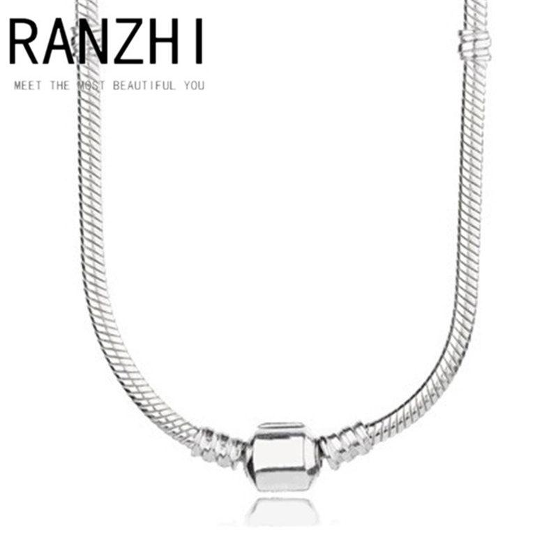RANZHI PAN High Quality 100% 925 Genuine Sterling Silver Chain For Pendant Charm Necklace Luxury Men Gifts Jewelry Delicate Gift