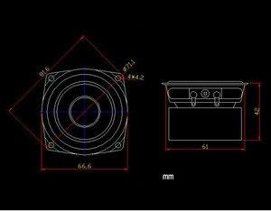 Image 5 - GHXAMP 2.5 Inch 66MM HIFI Loa Toàn Dải Đơn Vị, Độ Nhạy Cao, Tiếng Người, dụng Cụ Âm Nhạc Âm Thanh Tốt 2 Chiếc