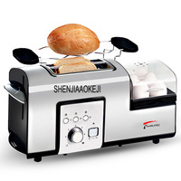 Home use bread Toaster Breakfast toaster steaming and boiling machine Multifunctional stainless steel Steam egg Machine 1PC