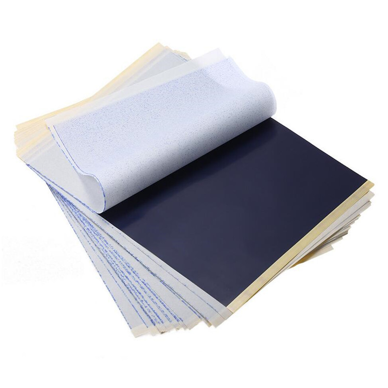 tattoo carbon paper (tattoo transfer carbon paper 10 sheets (high quality)y) trace the picture outline onto your tracing paper put the tracing paper over the carbon paper with the dull side up 10 sheets of high quality.