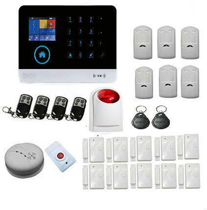 Yobang Security Wireless GSM&WIFI Smart Home Security Alarm Systems Kits Infrared Motion Sensor Door Alert with APP Control