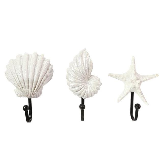 3 Stksset Conch Zeeschelp Zee Ster Haken Prachtige Decoratieve