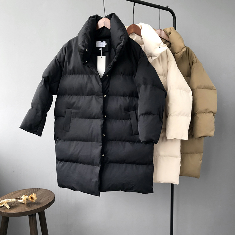 HXJJP Duck Down Jacket Women Winter 19 Outerwear Coats Female Long Casual Warm Down puffer jacket Parka branded 18