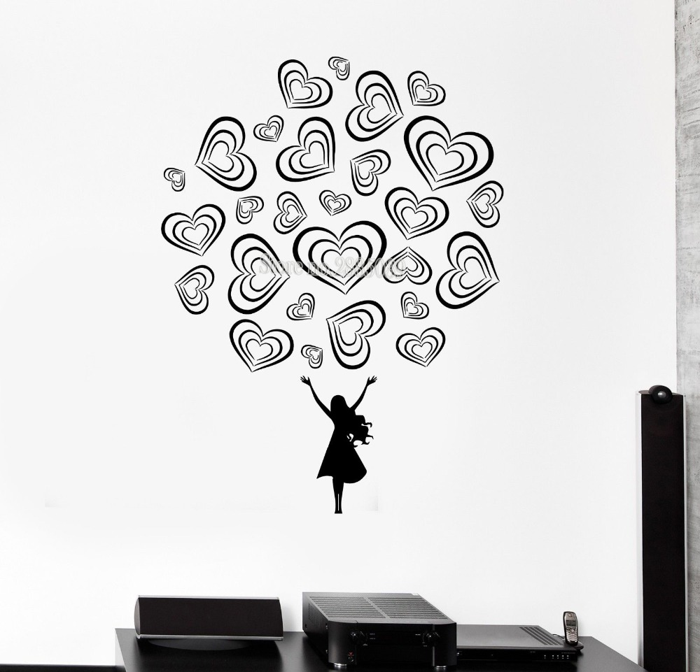 New Fashion Wall Decal Teen Girl Love Romance Beautiful ...