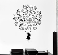New Fashion Wall Decal Teen Girl Love Romance Beautiful Decal Bedroom Decor Vinyl DIY Removable Stickers