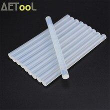 AETool 10 шт./компл. 7 мм Клей-карандаш для горячей плавки для теплового пистолета клей 7x100 мм Высокая вязкость клея клей-карандаш комплект для ремонта DIY ручной инструмент