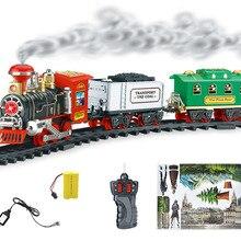 Electric Steam Smoke Simulation Railroad Railway RC Train Ca