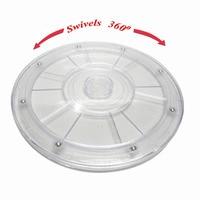 20cm Plastic Hand Wheel Transparent Acrylic Rotating Turntable Furniture Accessories Diameter Of 20 Cm Plastic Turntable