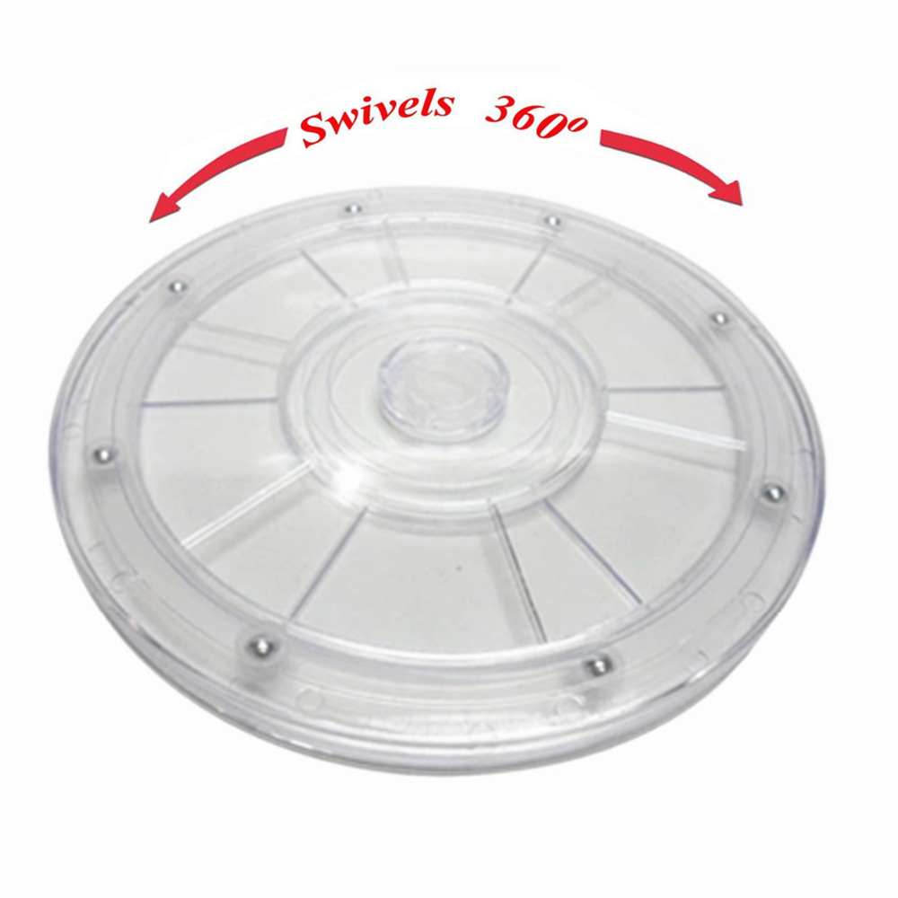 20cm Plastic Hand Wheel Transparent Acrylic Rotating Turntable Furniture Accessories Diameter