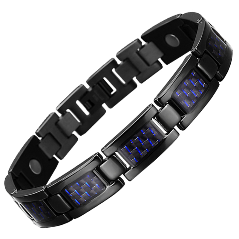 Drop-Shipping Fashion Bracelets & Bangles Energy Bio Healing Titanium Magnetic Bracelet Men Jewelry Love Bracelet Gift For Men