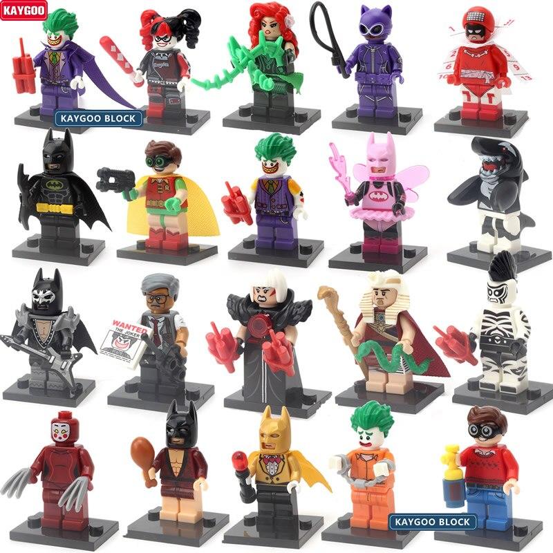 Kaygoo New Single Sale Super Heroes Joker Batman Movie Figure Robin Calendar of people Harley Quinn Building Blocks Toys Kids