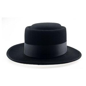 Image 3 - 60cm Fedora Men Autumn Felt Pork Pie Crushable Hat BREAKING BAD Hat Walter Winter Retro Fedora hat Classic Church Trilby YY18110