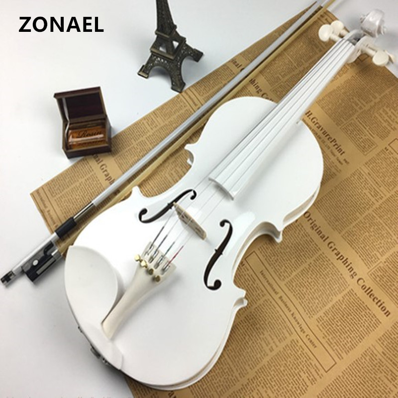 ZONAEL Beginner Violin Antique  violin 4/4  Handmade Musical Instrument & case,bow  basswood v001 4 4 electric acoustic violin basswood fiddle with violin case cover bow rosin for musical stringed instrument lovers beginners