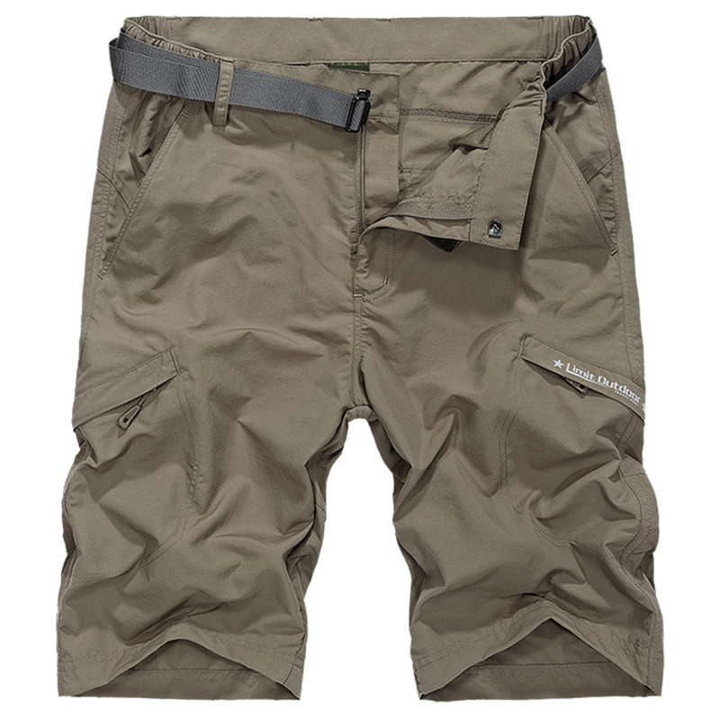 86 Waterproof Military Cargo Shorts Men Summer Quick Dry Loose Male Short Pants Thin Material Male Short Masculino WIth Belt