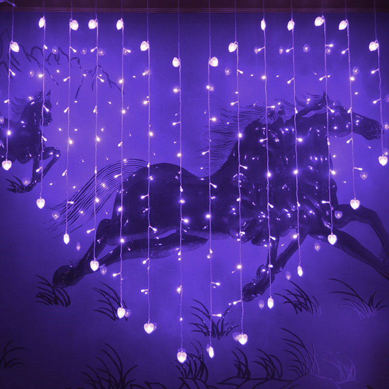 backdrops with led lights loving heart royal blue wedding decoration