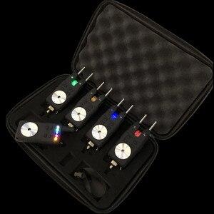 Image 1 - Черный 4 1 сигнализация для прикуса карпа, беспроводная Цифровая Сигнализация для прикуса, световой сигнал, водонепроницаемый, для ловли карпа