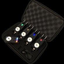 Czarny 4 1 karpiowe wędkarskie sygnalizatory brań bezprzewodowy cyfrowy alarm zgryzowy wędkarski czujnik alarmowy swinger wodoodporny karpiowy Pesca