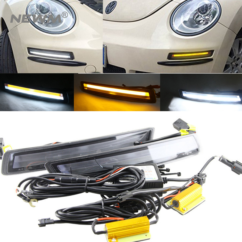 one set DRL Daytime Running+ Indicator Turn Signal Light For Volkswagen Beetle 2005 2006 2007 2008 2009 2010 volkswagen new beetle 2005 2009 кабриолет