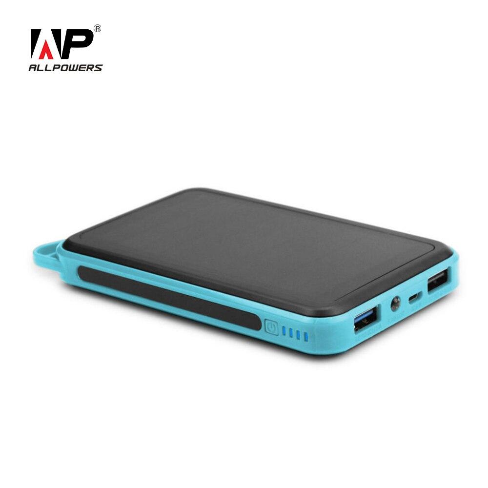 imágenes para ALLPOWERS 15000 mAh Cargador Solar Dual USB Cargador Solar para iPhone iPad Sumsung HTC Sony Huawei Nokia Motorola