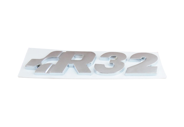 Auto chrome R32 for Golf Jetta GTI Passat Emblem Badge Sticker auto car chrome red gli for jetta bora a4 mk4 emblem badge sticker