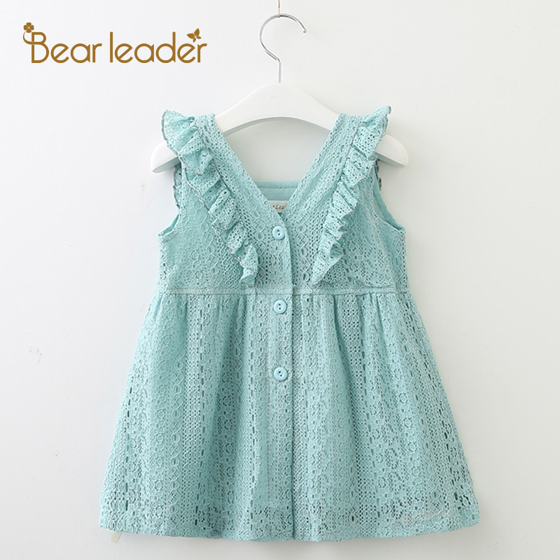 Bear Leader Girls Dresses 2018 New Summer Brand Kids Princess Dress Cute Embroidery Bow Design for Girls 1-6Y Children Clothes new girls dress brand summer clothes ice cream print costumes sleeveless kids clothing cute children vest dress princess dress