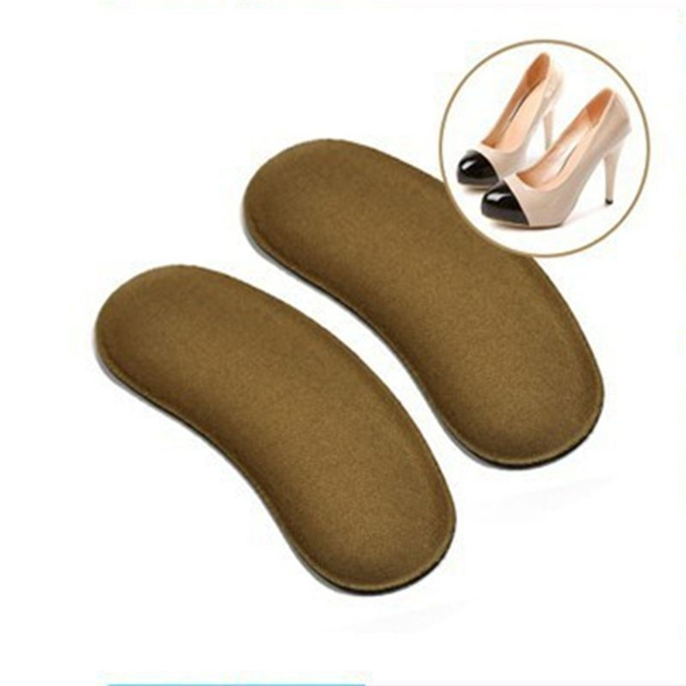 Soft Sticky Fabric Shoe Back Heel Inserts Insoles Pads Cushion Liner Grips 1Pair=2 Pieces