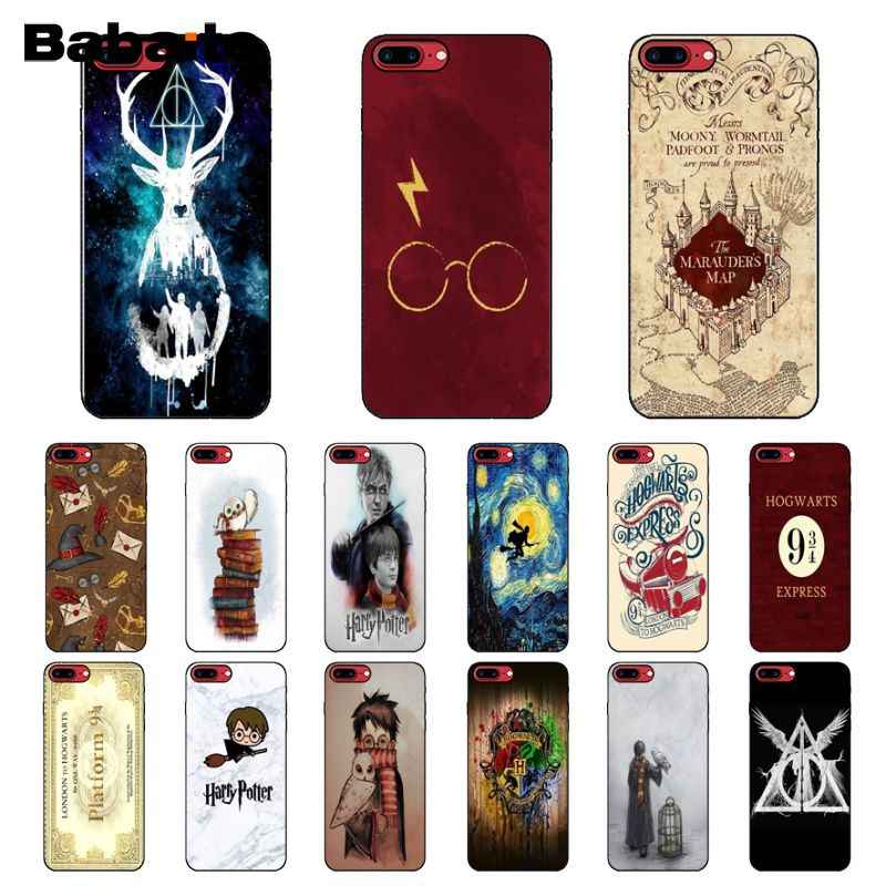 Babaite Harry Potter Hogwarts Soft Silicone TPU Phone Cover for Apple iPhone 8 7 6 6S Plus X XS MAX 5 5S SE XR Mobile Cover